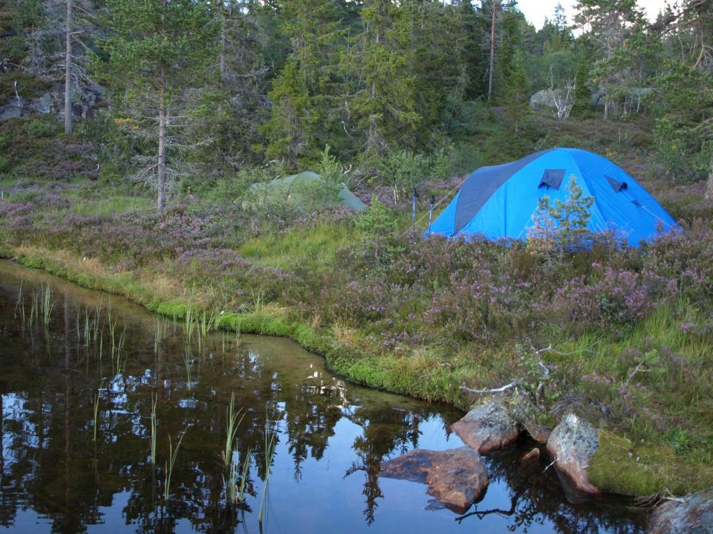 Ein Zelt im Fjäll